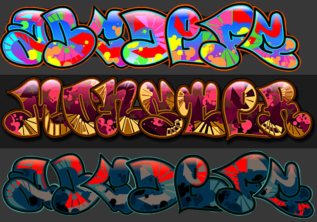 Creator Grafitti Alphabet Letters New Graffiti 3D Wallpaper 647x455