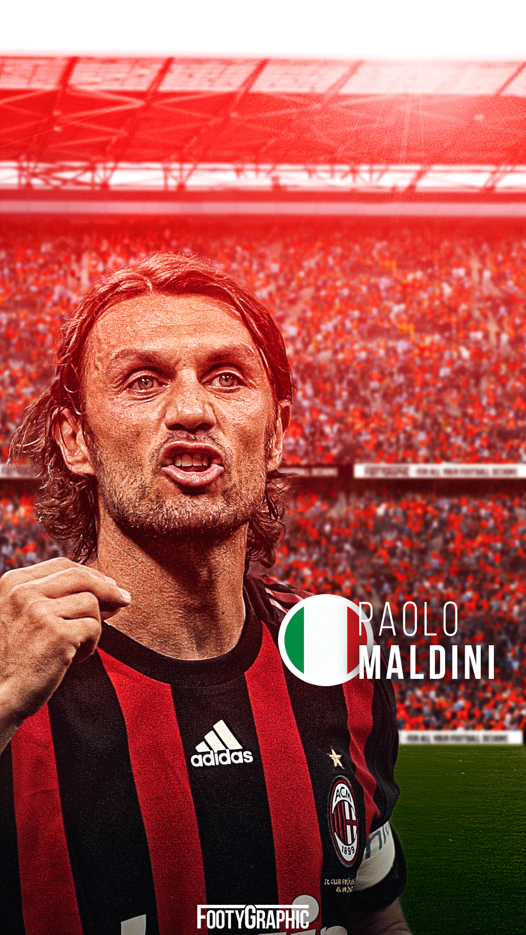 Paolo Maldini lockscreen milano legend Ac milan Paolo maldini 1080x1920