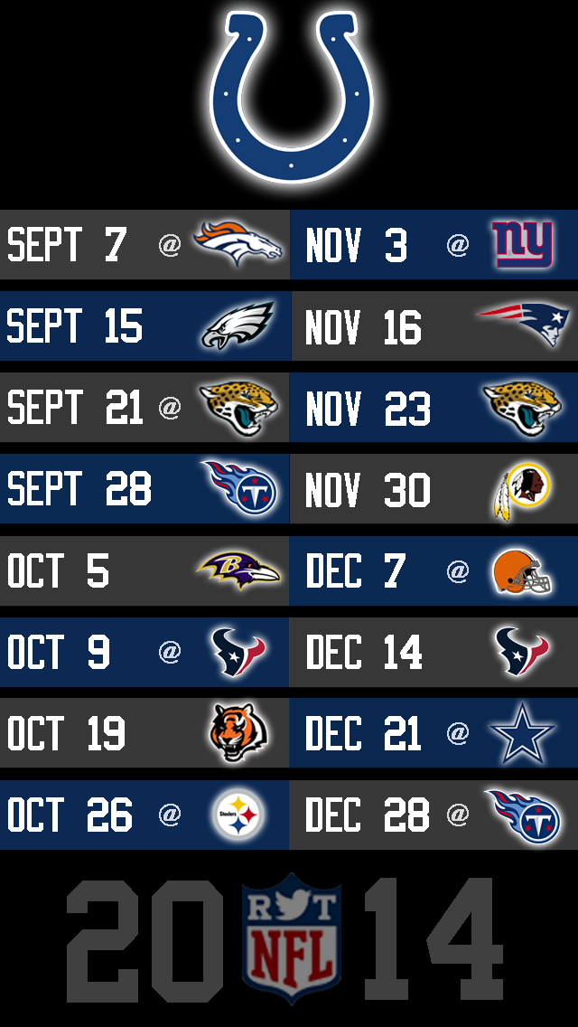 2014 NFL Schedule Wallpapers for iPhone 5   Page 5 of 8   NFLRT 640x1136