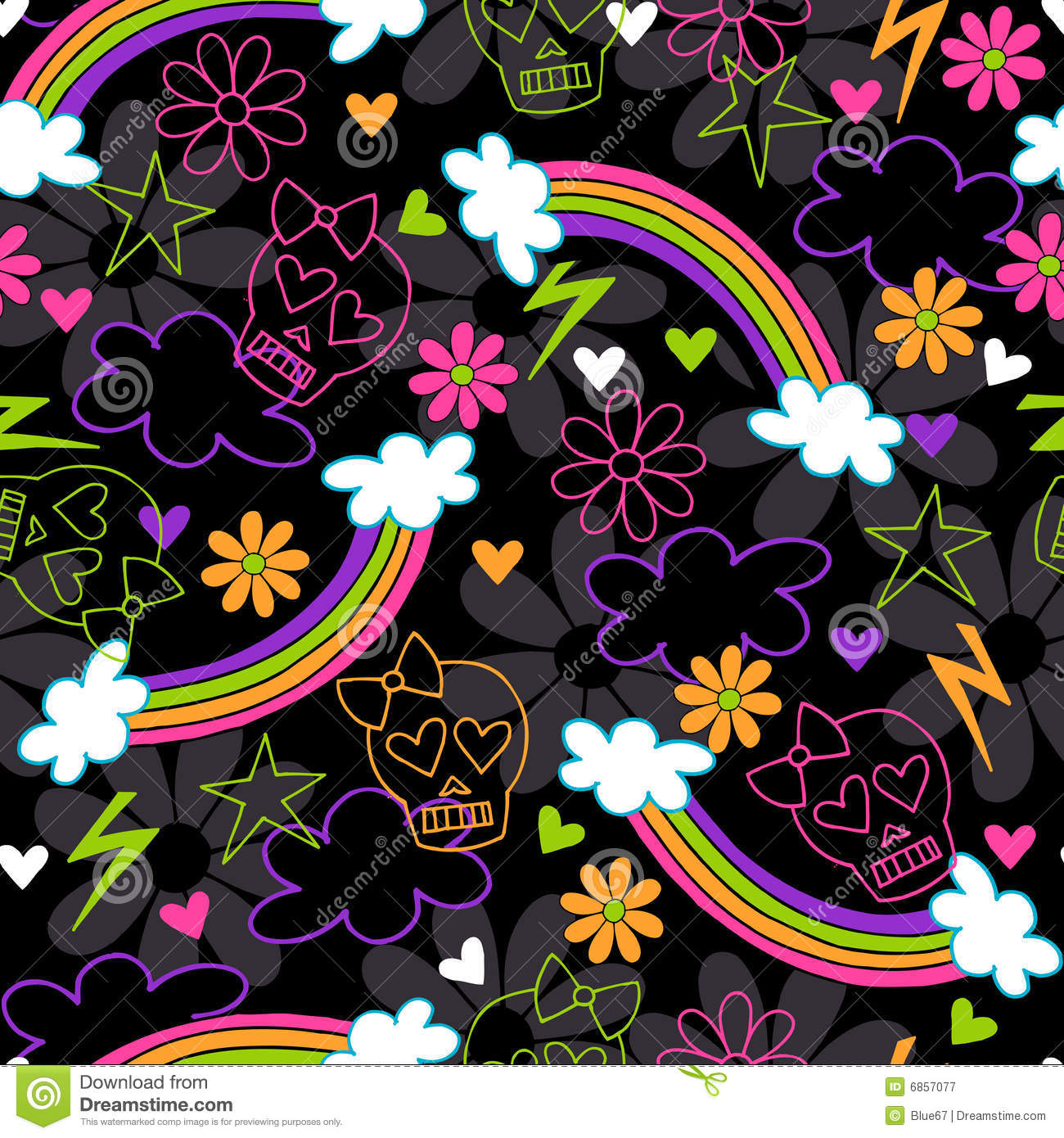 Skull Pattern Wallpaper Girly skulls