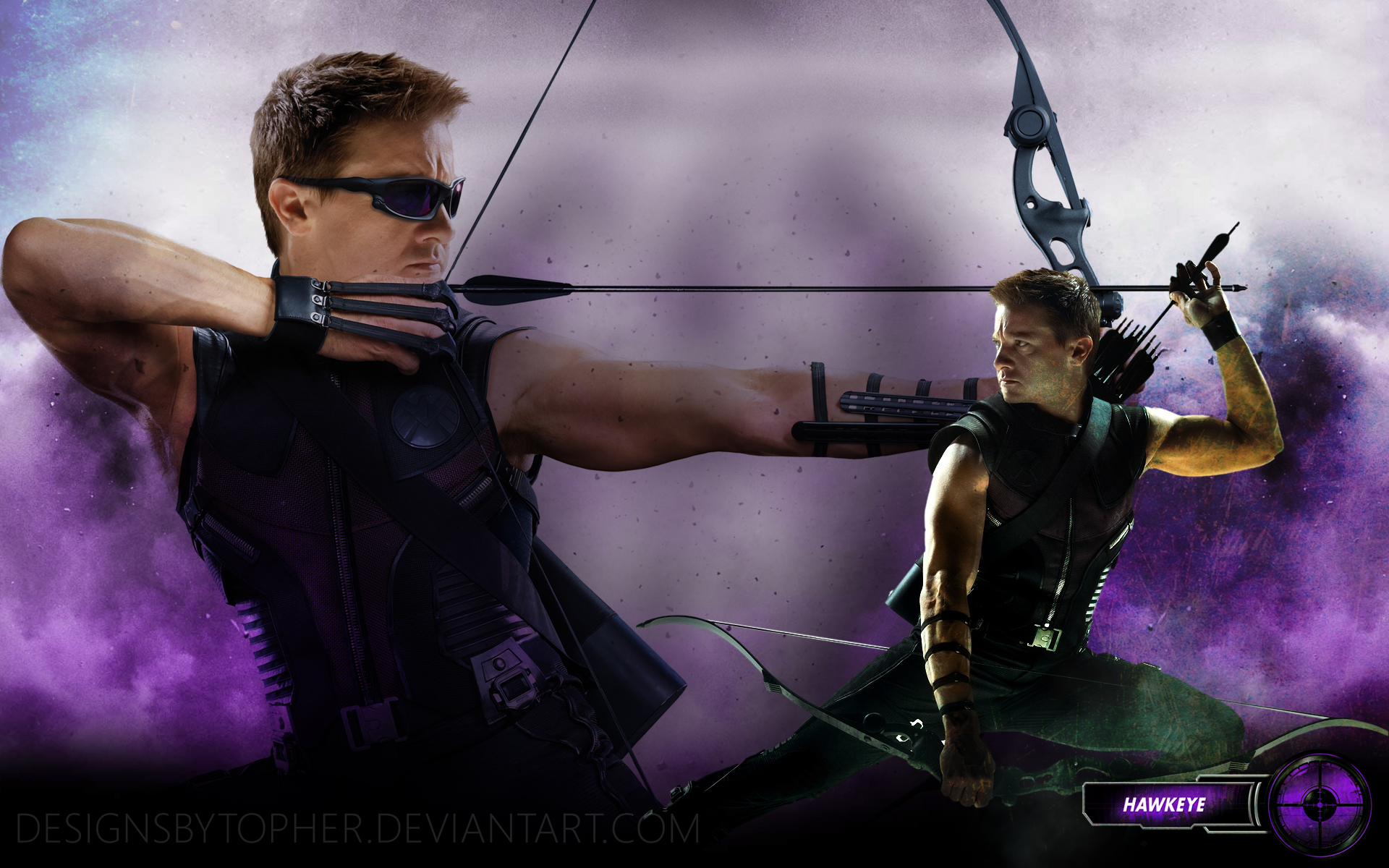 hawkeye the avengers by designsbytopher customization wallpaper hdtv 1920x1200