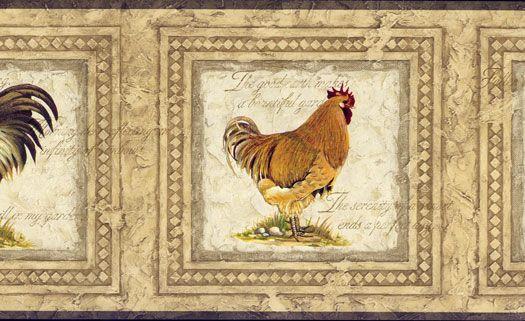 Framed Rooster Wallpaper Border 525x321