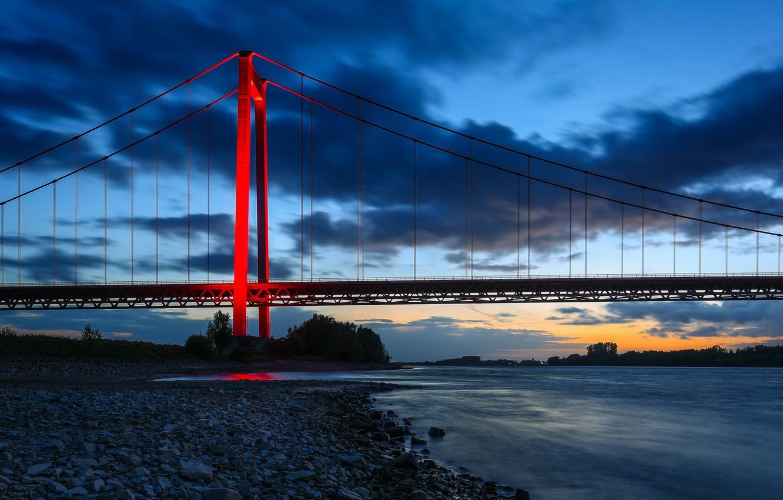 Wallpaper bridge river Germany Germany the Rhine river North 1332x850