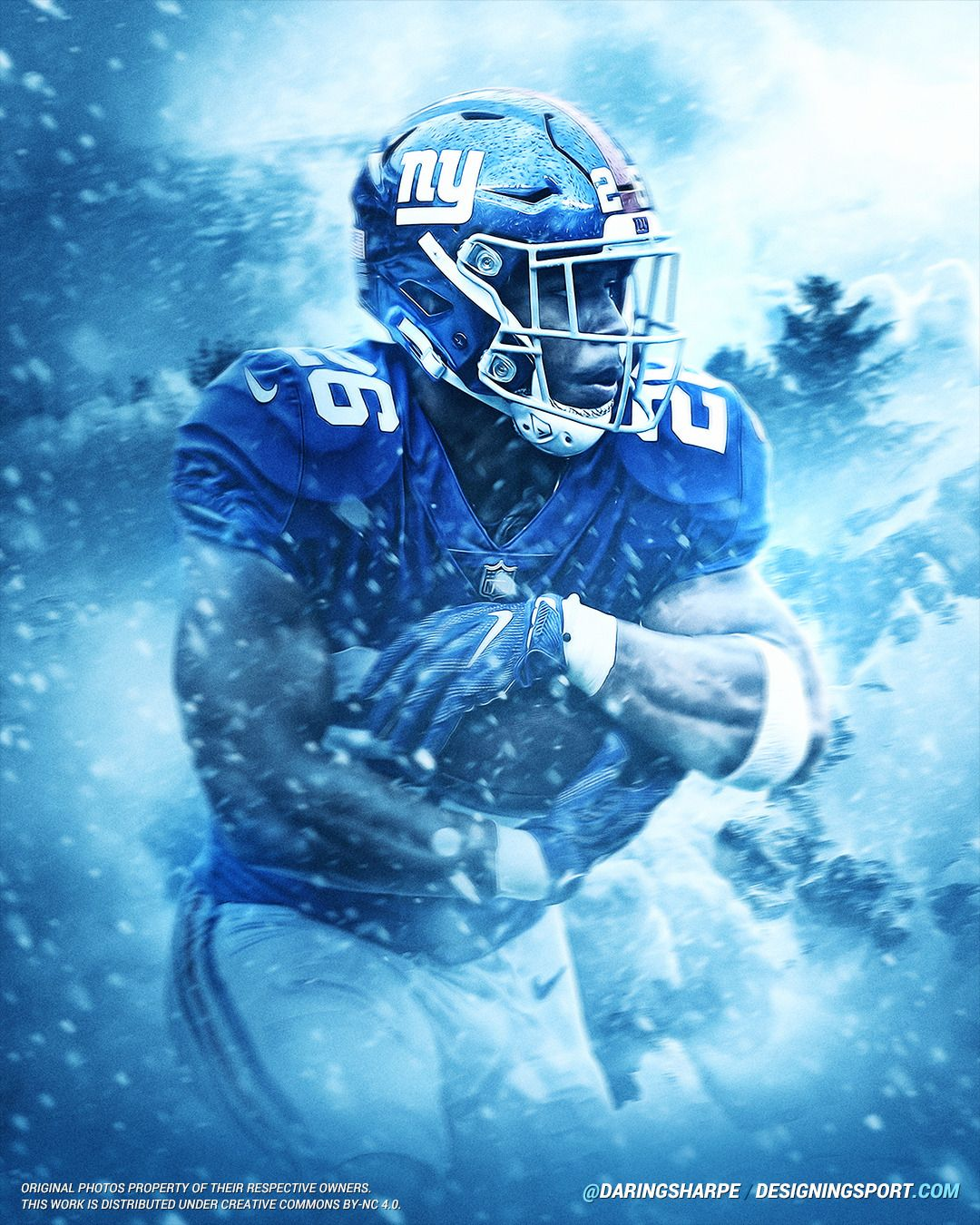 Saquon Barkley New York Giants Daring Boy Interactive New 1080x1350