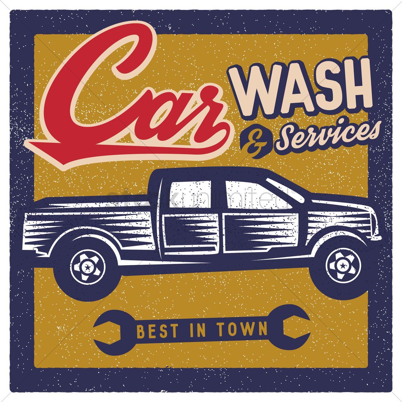 Car wash wallpaper Vector Image   1566342 StockUnlimited 1300x1300