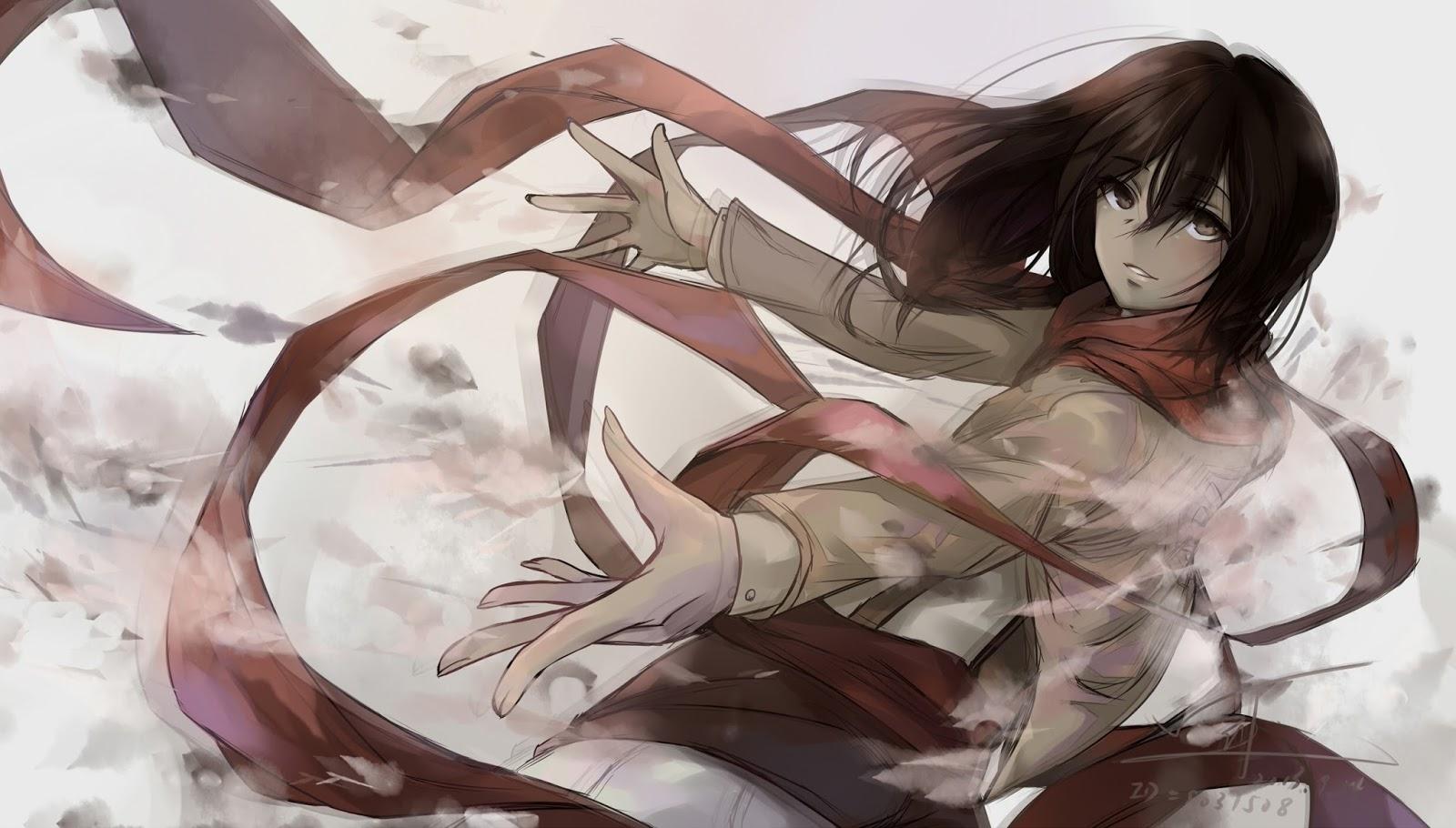 Attack on Titan Shingeki no Kyojin Girl Anime HD Wallpaper Backgrounds 1600x910