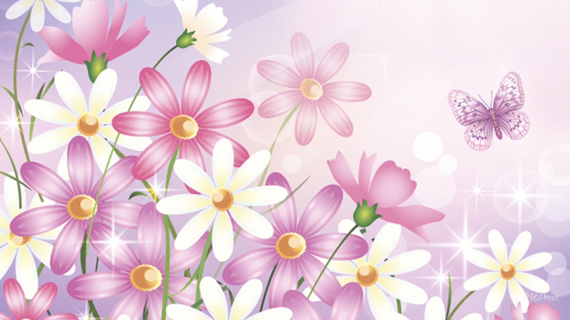 Pink And White Floral Wallpaper Wallpapersafari