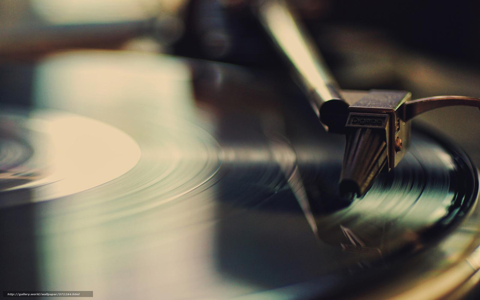Download wallpaper record music Player retro desktop wallpaper 1600x1000