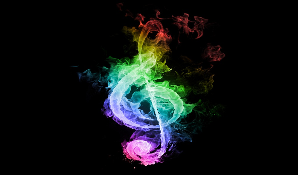 Rainbow Music Notes Background Hd Wallpaper Background Images: Colorful Treble Clef Wallpaper