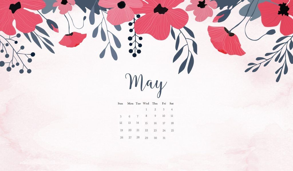 May 2019 Wallpaper With Calendar MaxCalendars in 2019 May 2017 1024x598
