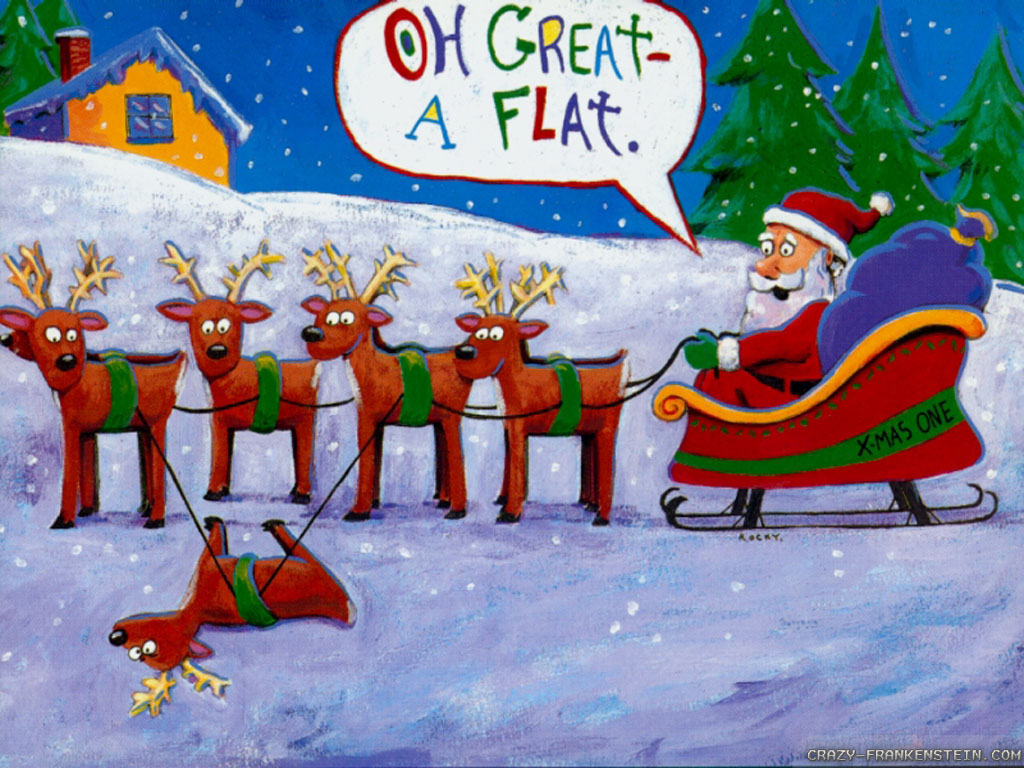 funny christmas wallpapers 2 1024x768   Plunged in Debt 1024x768