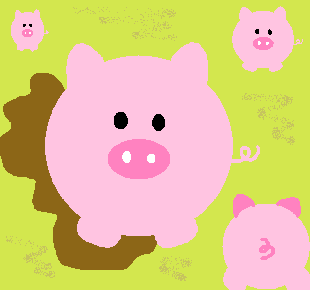 Go Back Gallery For Cute Pigs Wallpaper 638x596