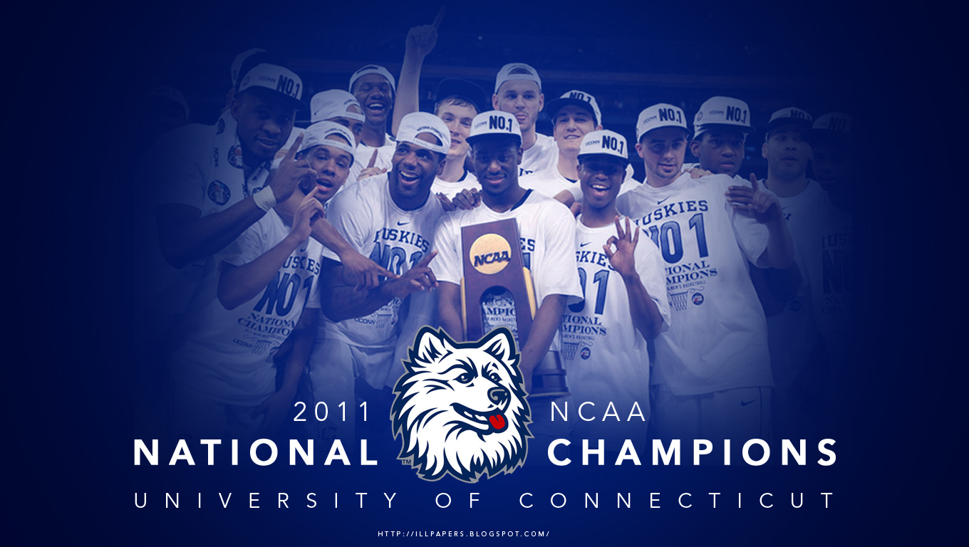 NEW 2011 UNIVERSITY OF CONNECTICUT NCAA NATIONAL CHAMPIONS WALLPAPER 1360x768