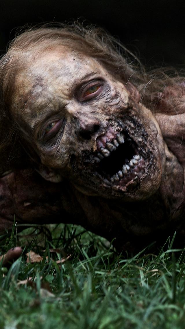 The Walking Dead Zombie iPhone 5 Wallpaper 640x1136 640x1136