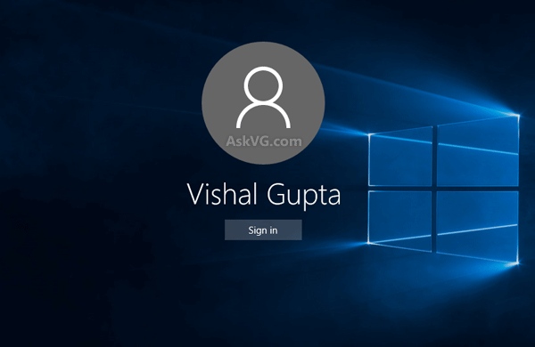Disable or Change Background Image of Windows 10 Login Screen   AskVG 600x390