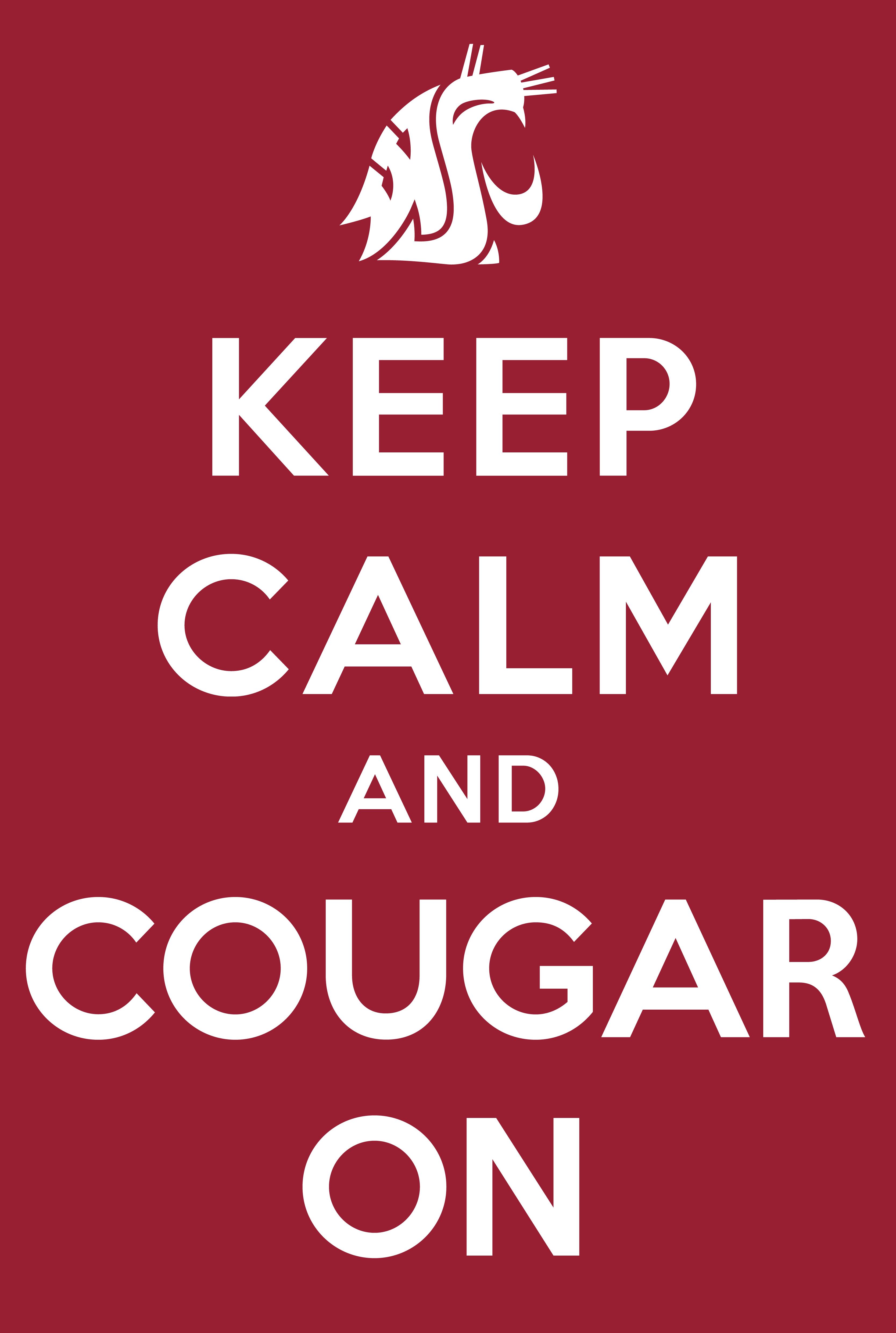 WSU Cougar Quote Haha Pinterest 3334x4959
