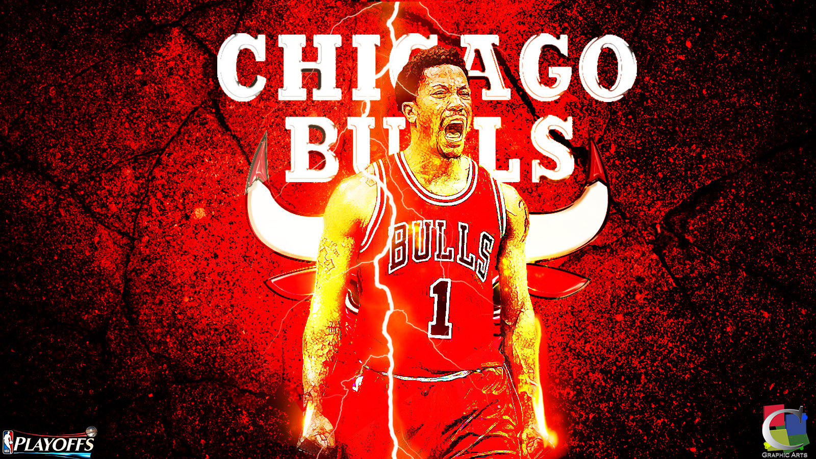 Derrick Rose Playoffs 2015 Wallpaper by CGraphicArts 1600x900