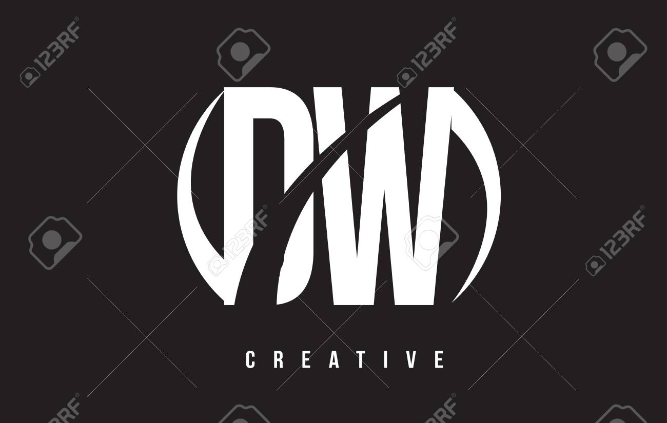 DW D W White Letter Logo Design With White Background Vector 1300x825