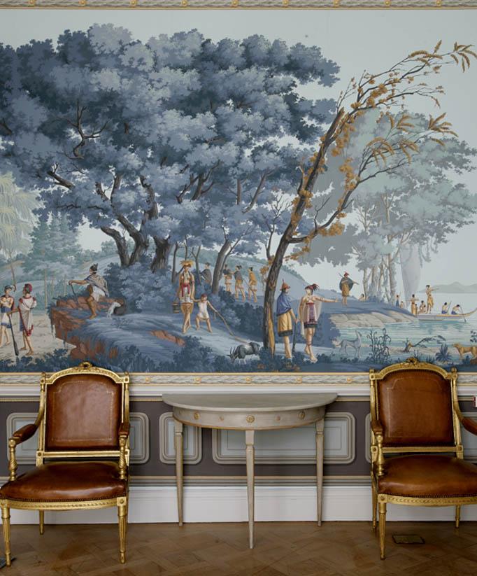 Classical MuralInterior Design SCENIC WALLPAPER LES SAUVAGES DE LA 682x823