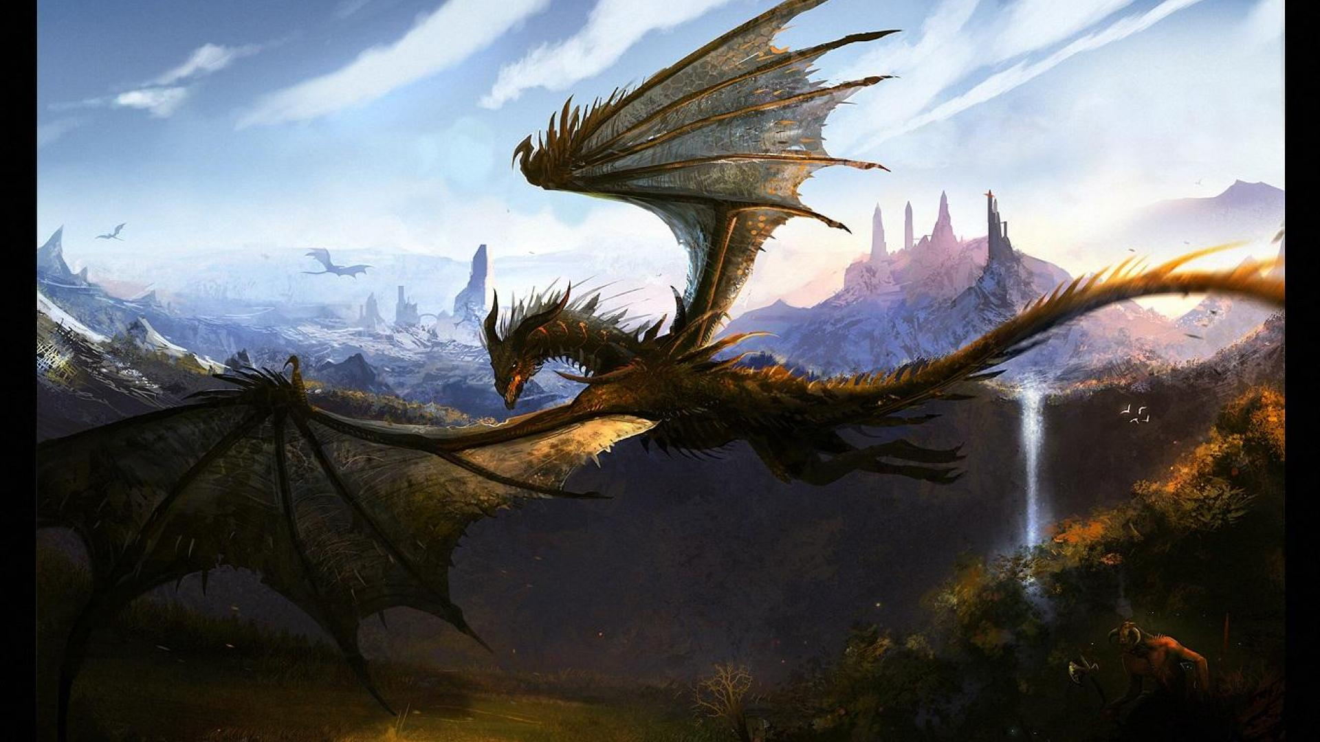 Dragon Flying In The Sky Good Galleries 1920x1080