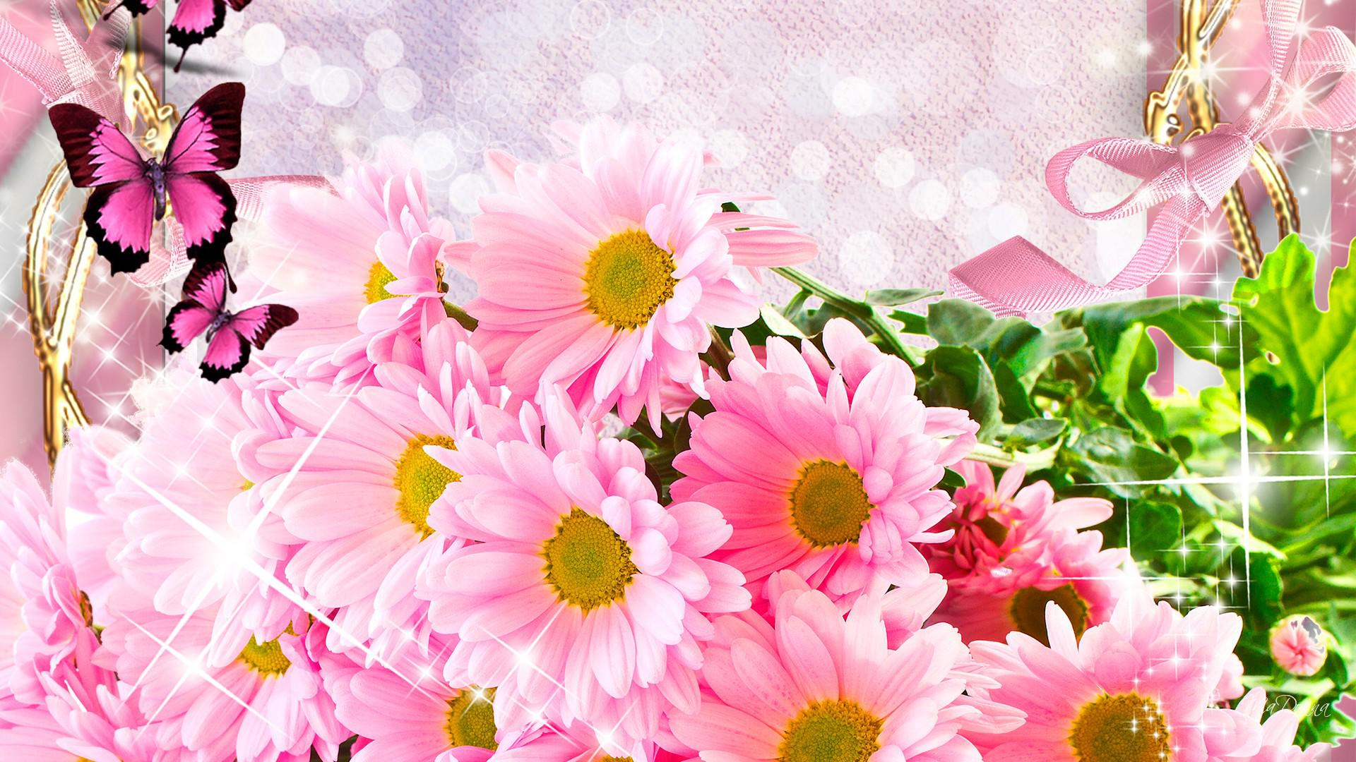 Годик девочке, обои цветы для открыток