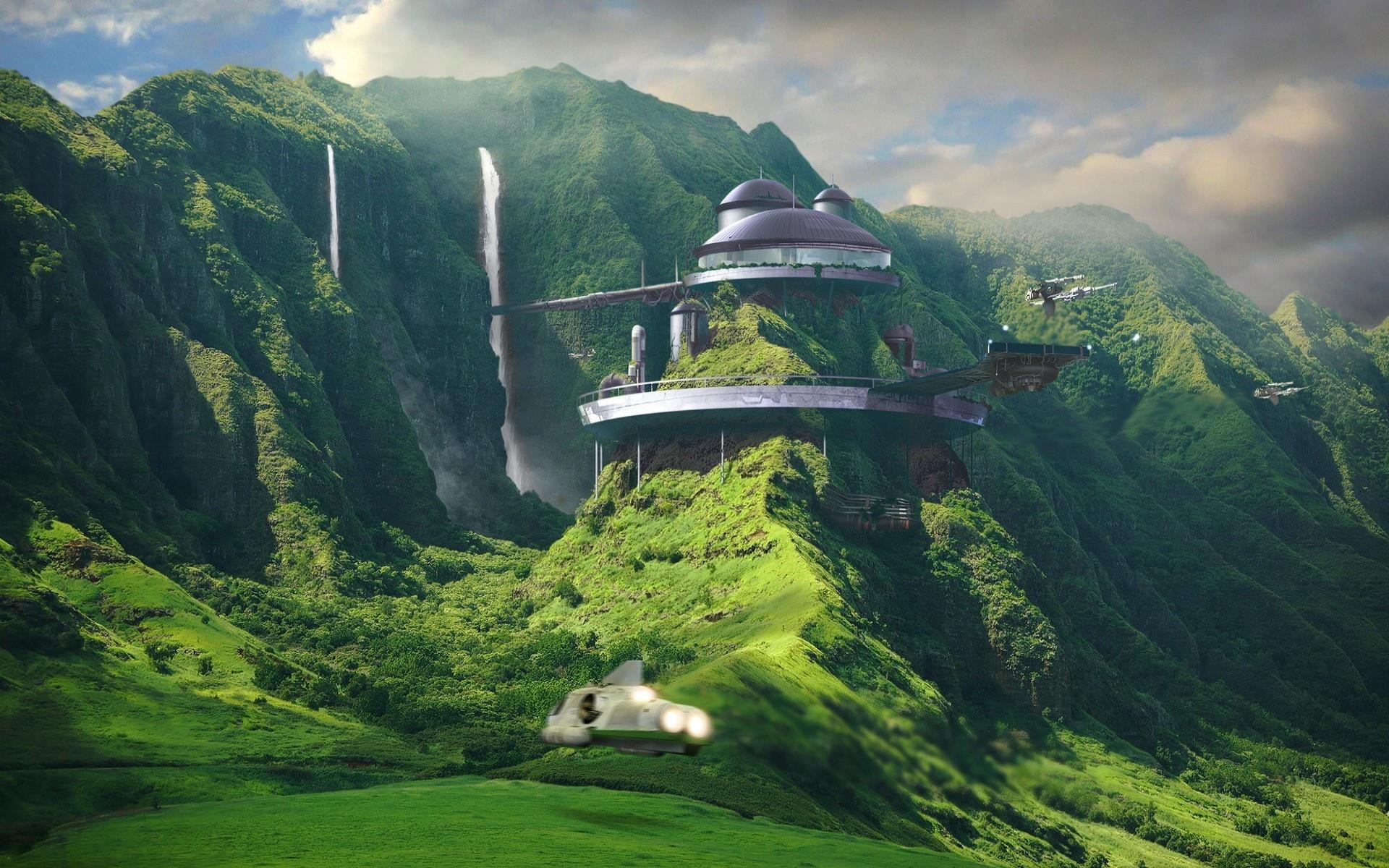 Sci Fi City 1920x1200