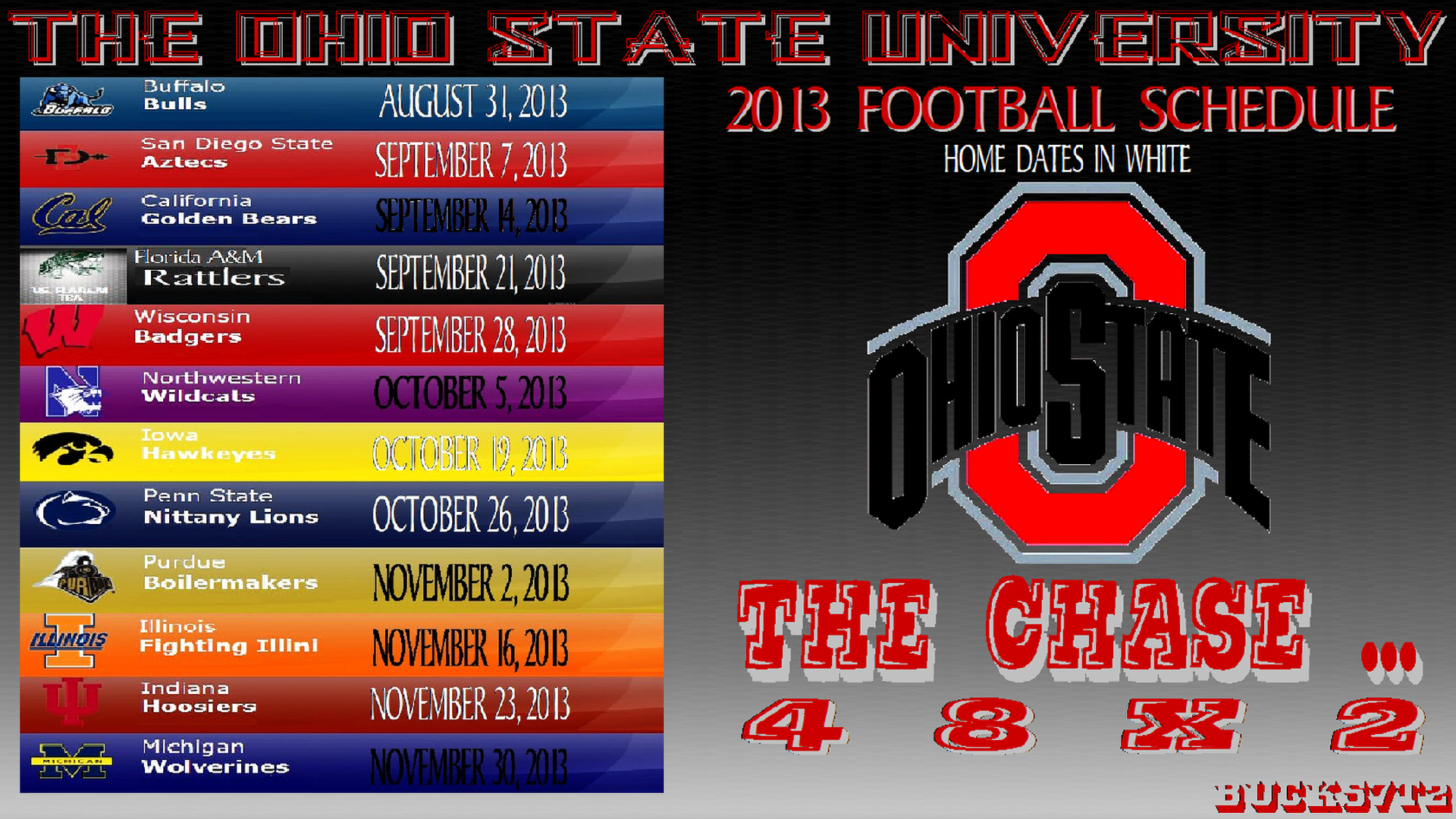 OHIO STATE BUCKEYES FOOTBALL SCHEDULE   Ohio State Football Wallpaper 1920x1080