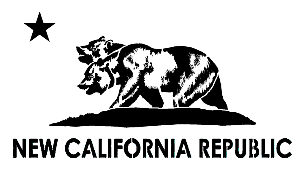 Stencil of the New California Republic Flag by DeathBySafety on 1024x575