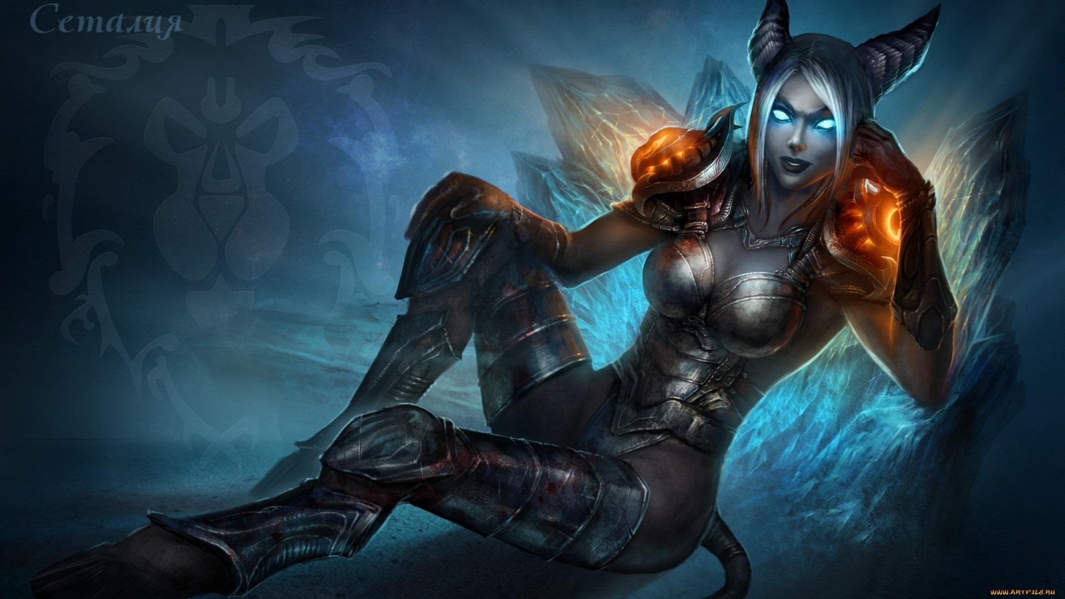 of Warcraft Demon Girl Wallpaper High Definition HD Games Wallpaper 2144x1206