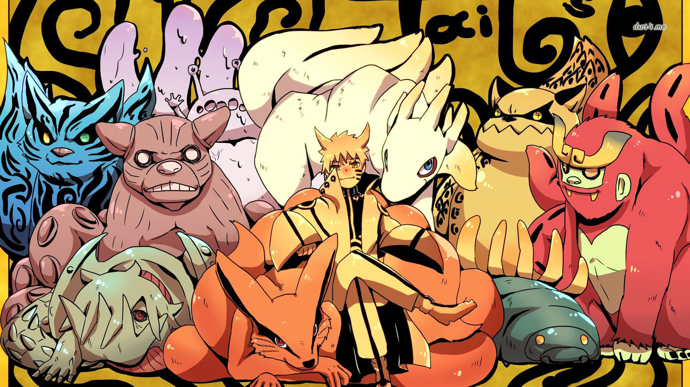 Tailed Beasts   Naruto wallpaper   Anime wallpapers   23429 1366x768