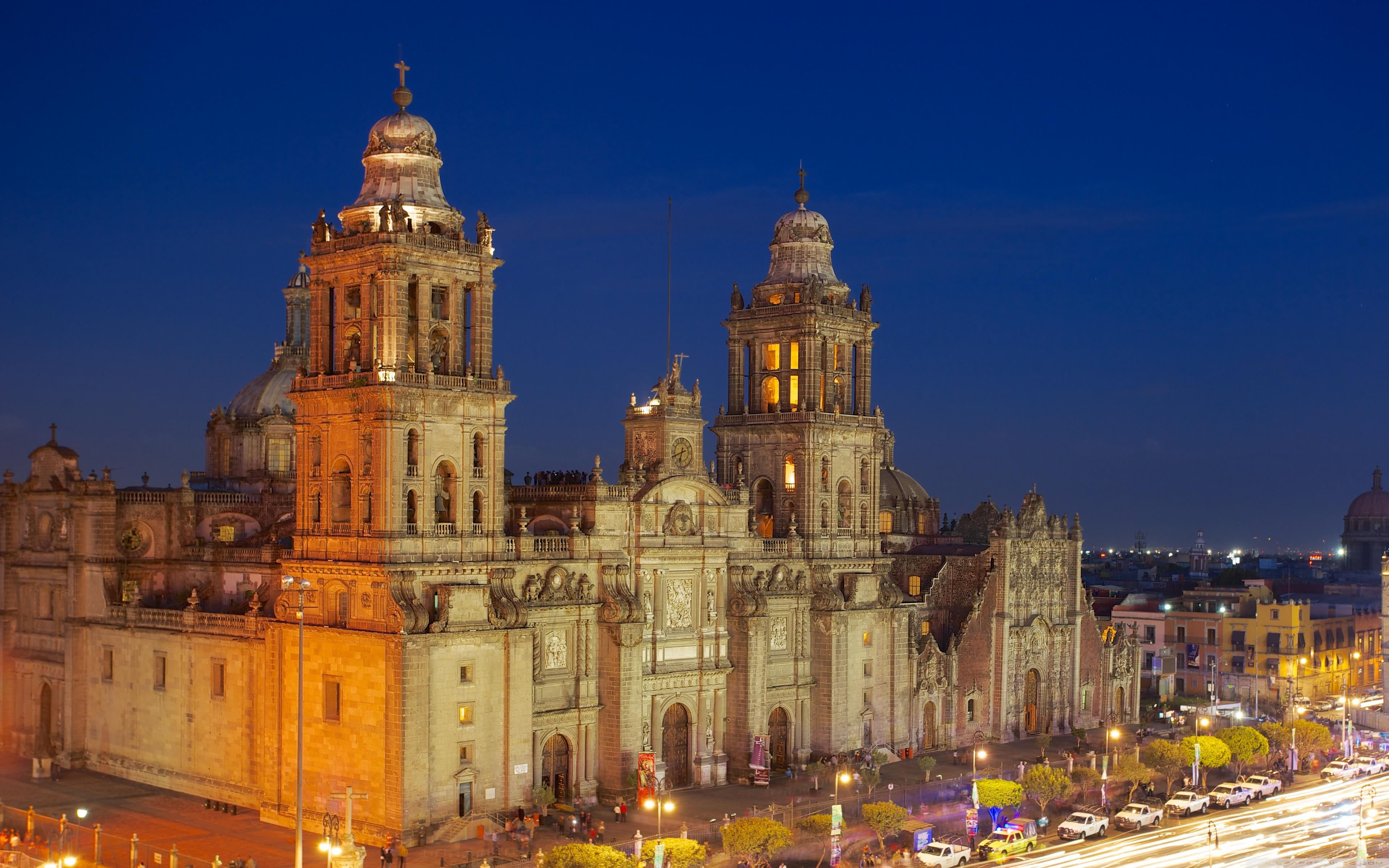 Mexico City Metropolitan Cathedral 4K HD Desktop Wallpaper for 3840x2400