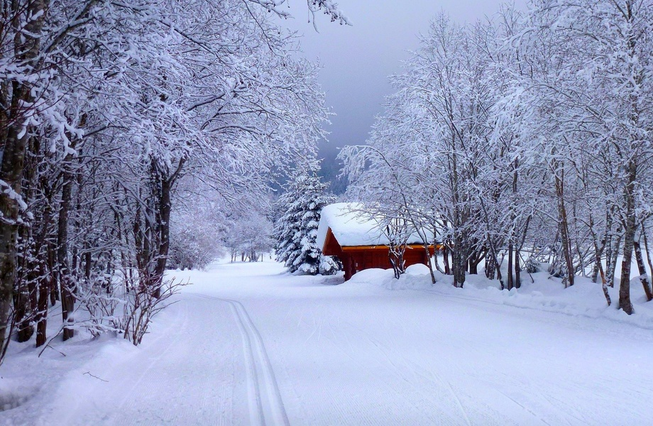 Snow Road House 4K Ultra HD wallpaper 4k WallpaperNet 920x600