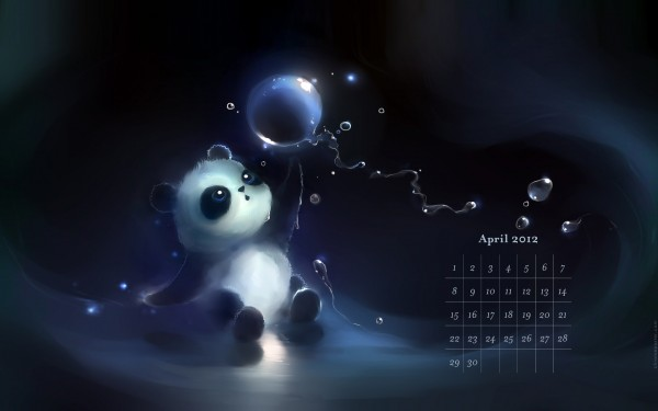 Desktop Calendar Wallpaper April 2012 Download 600x375