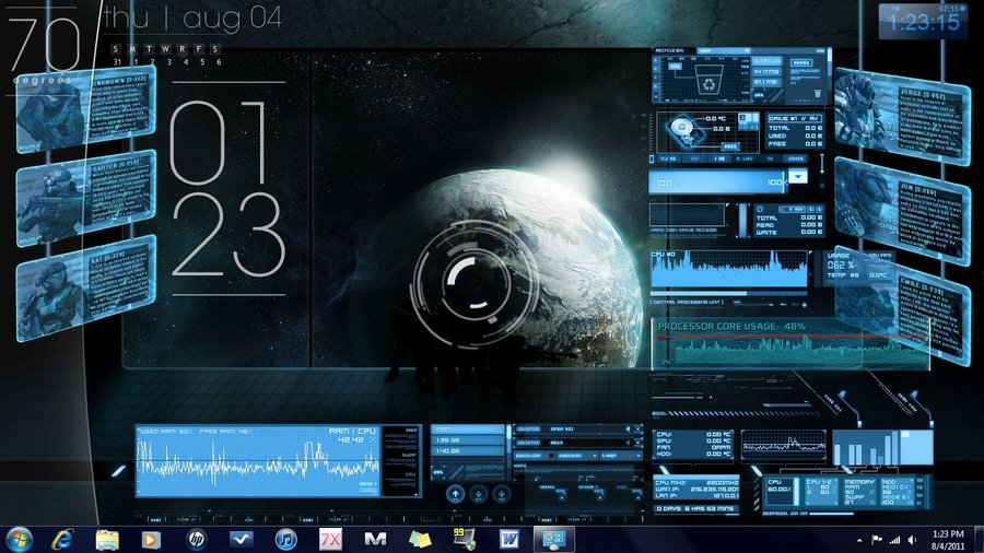 Group of Halo Windows 10 Theme