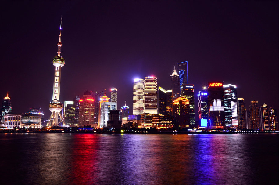 152758  china shanghai china shanghai night city metropolis lighting 915x606