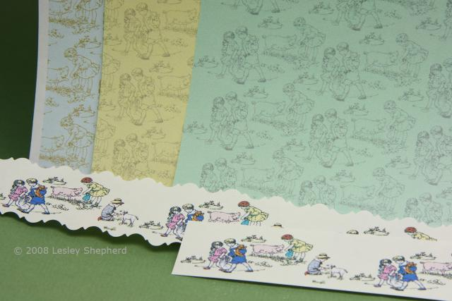 Printable Dolls House Nursery Wallpaper and Border with Farm 640x427