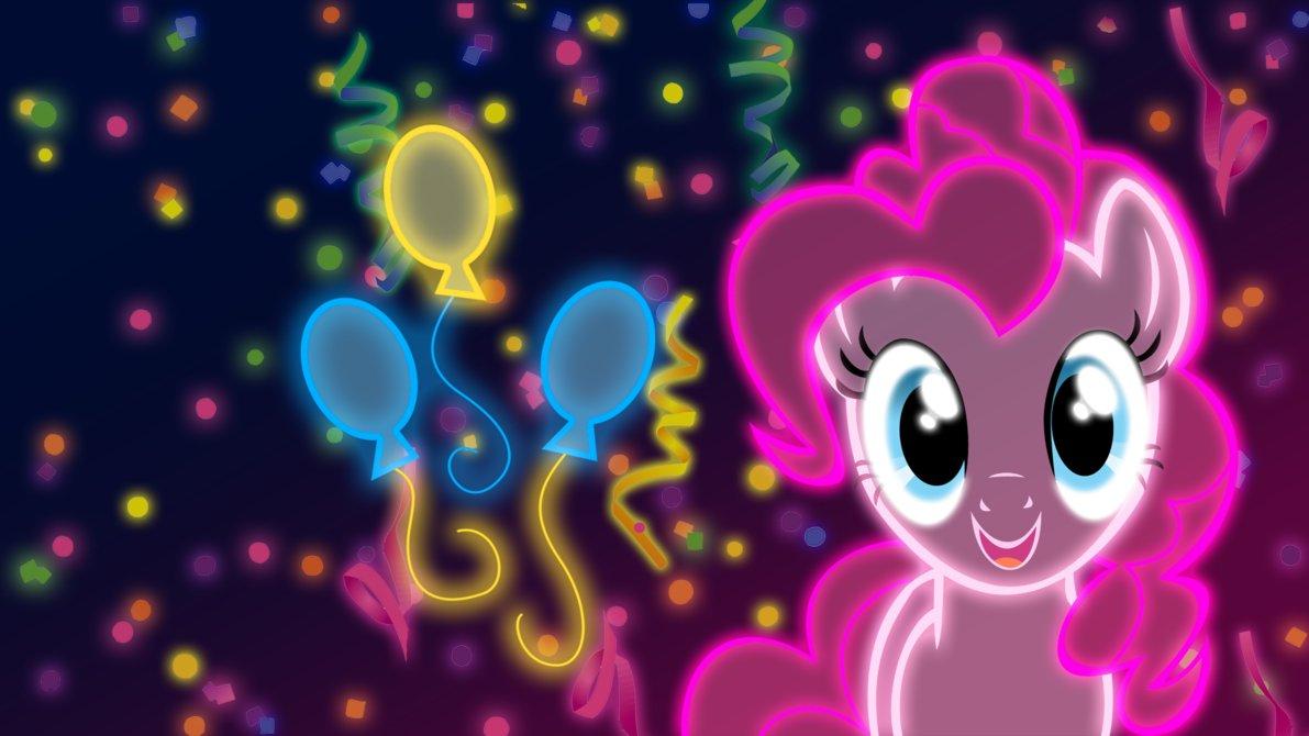 Neon Pinkie Pie Wallpaper by ZantyARZ 1191x670