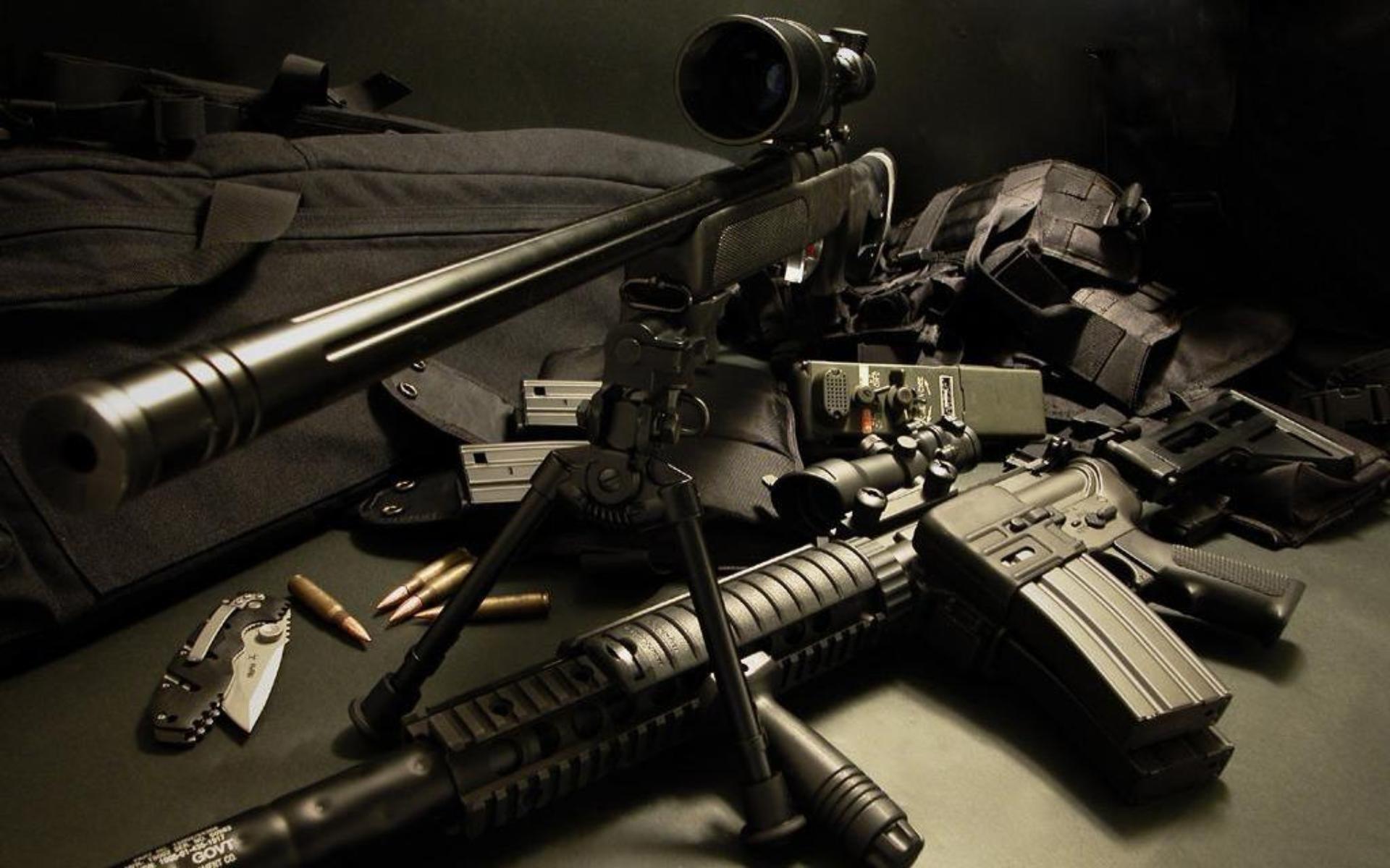 Sniper On Sunset Wallpaper HD Wallpaper WallpaperLepi 1920x1200