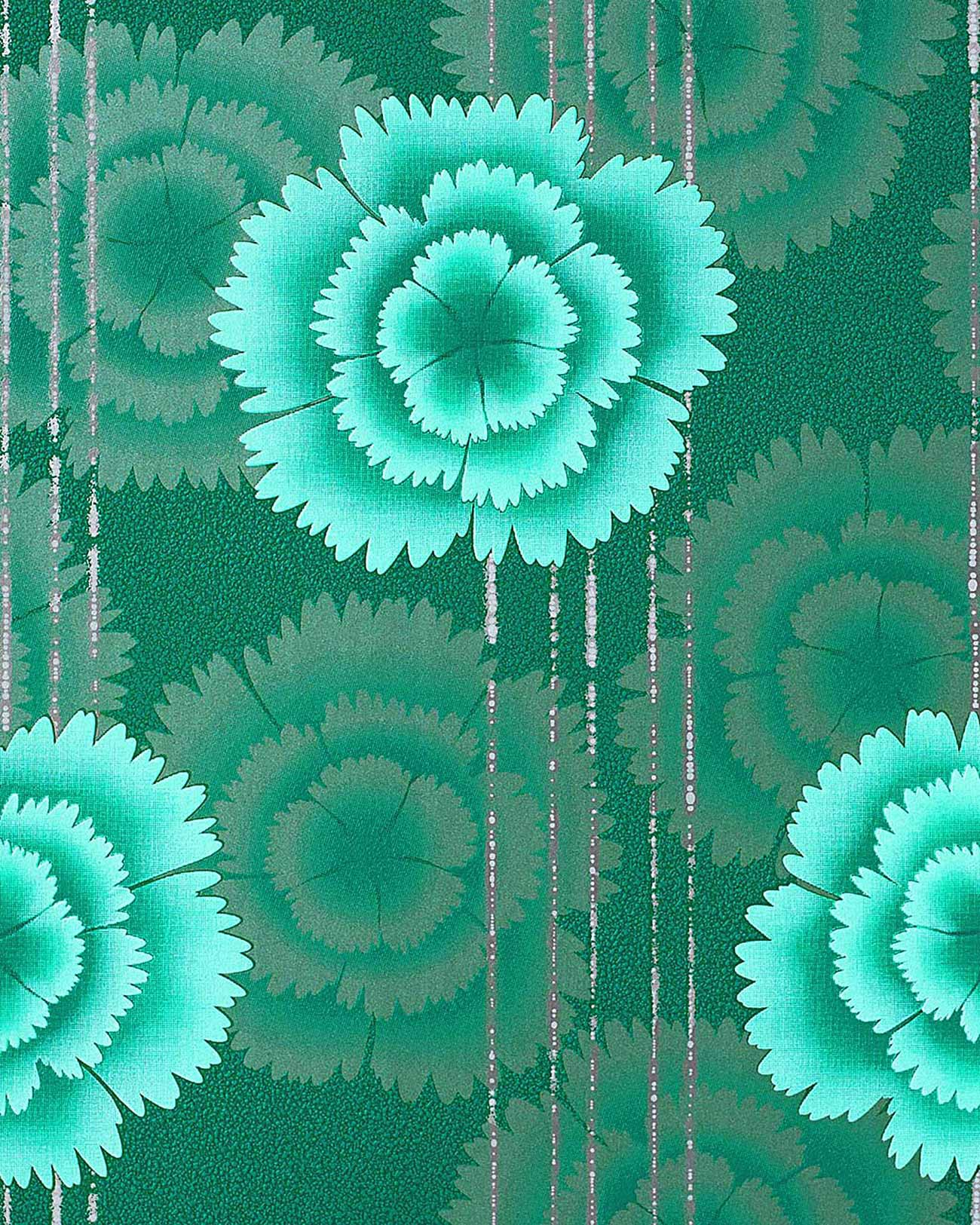 Free Download 25 Wallpaper Retro 70s Flowers Grey Turquoise Blue