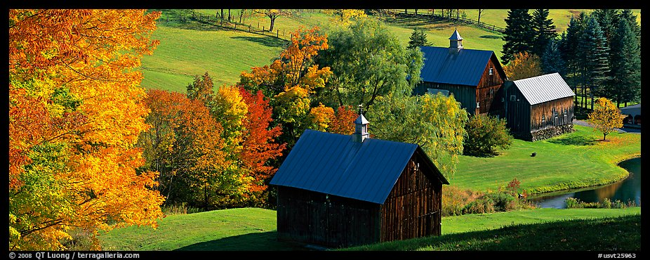 Photo Pastoral barn scenery in autumn Vermont New England USA 926x370