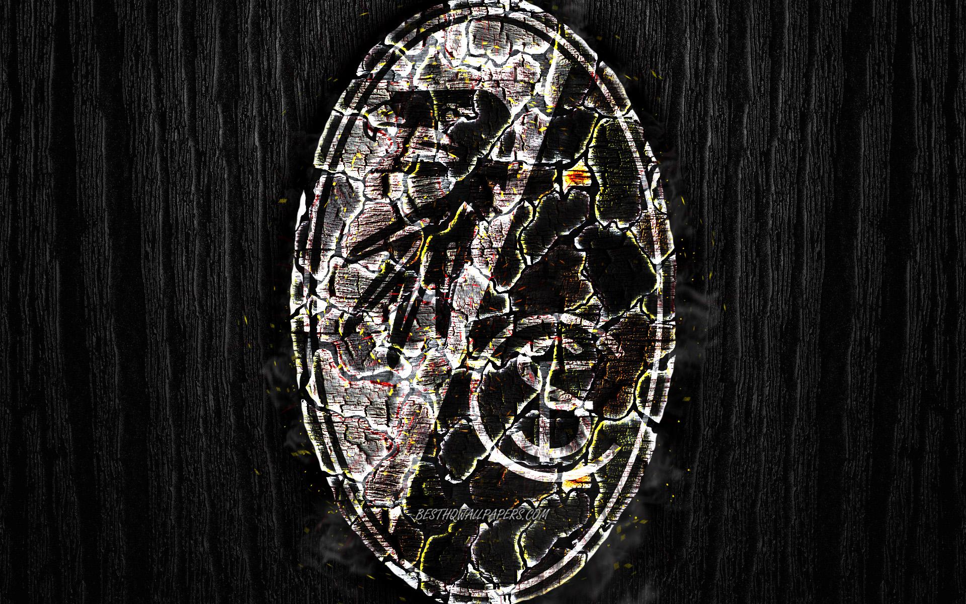 Download wallpapers Freiburg FC scorched logo Bundesliga black 1920x1200