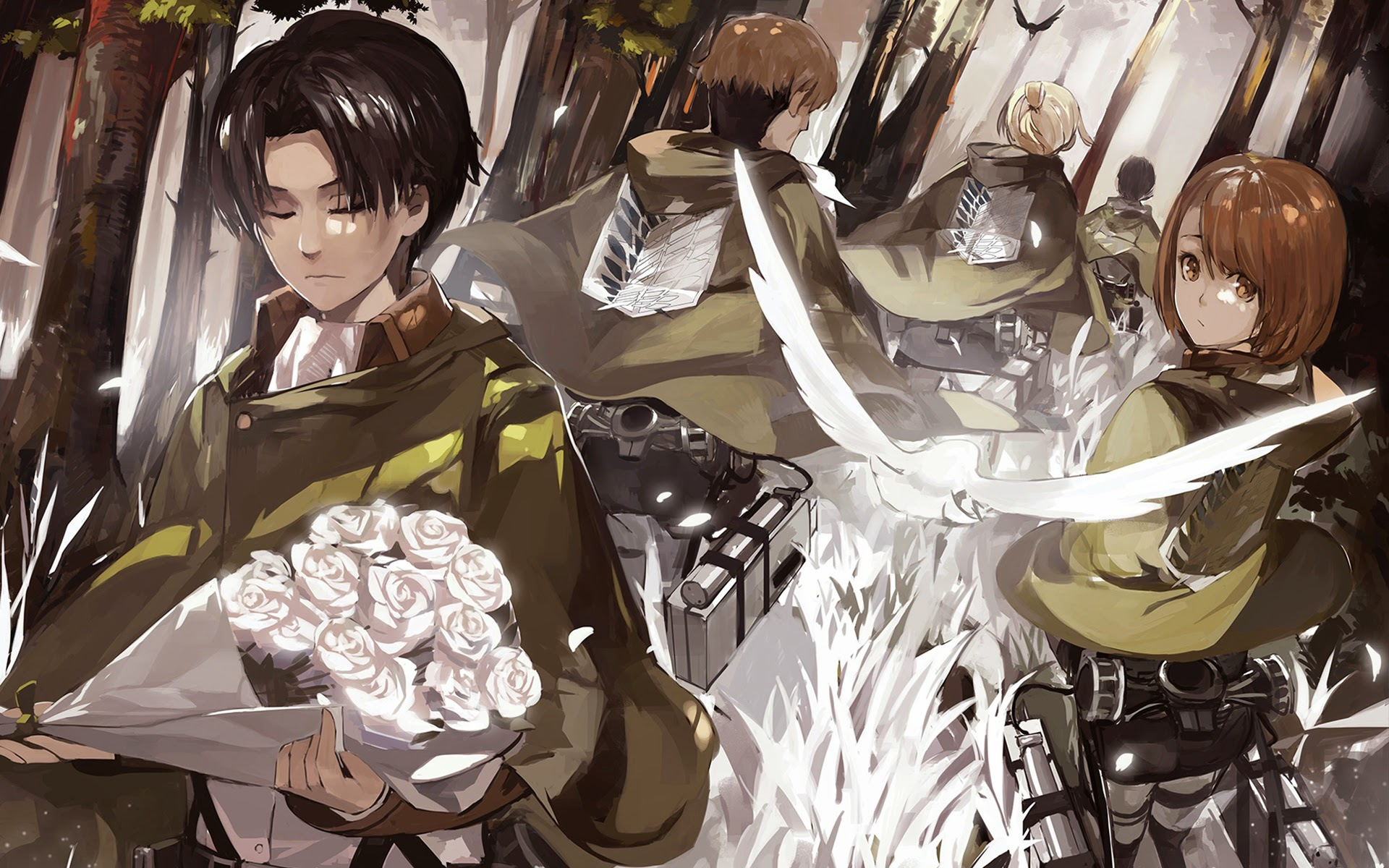 levi special squad anime attack on titan shingeki no kyojin hd 1920x1200