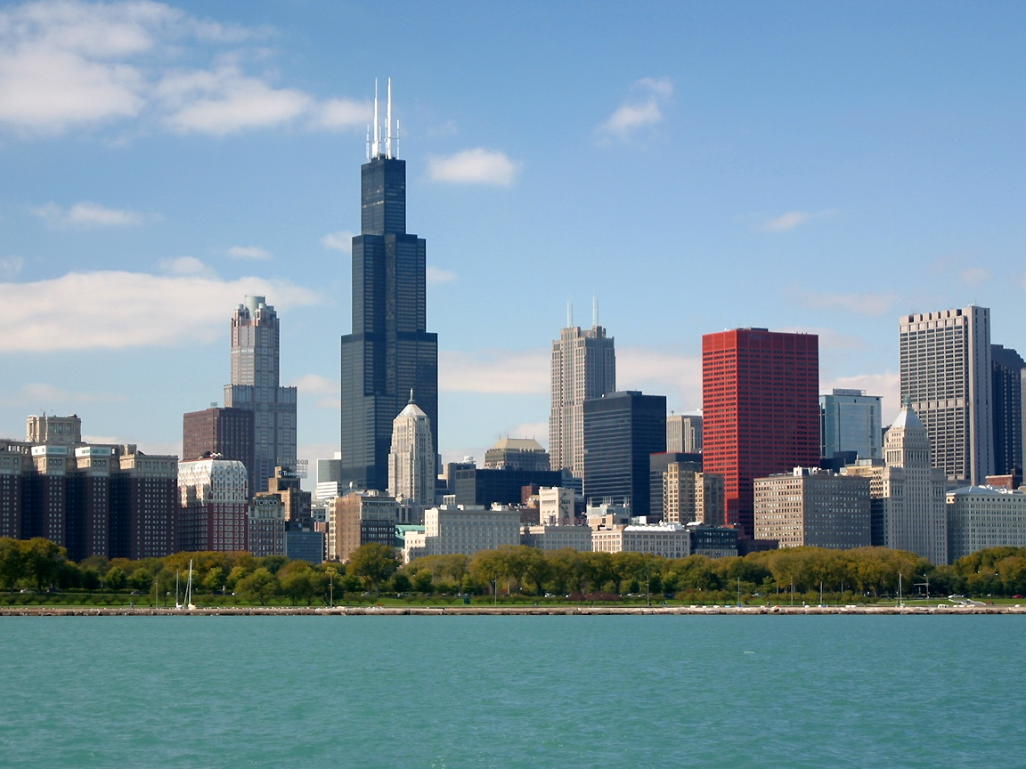 downtown Chicago photographed on Oct 19 2002 using a Canon D60 1152x864