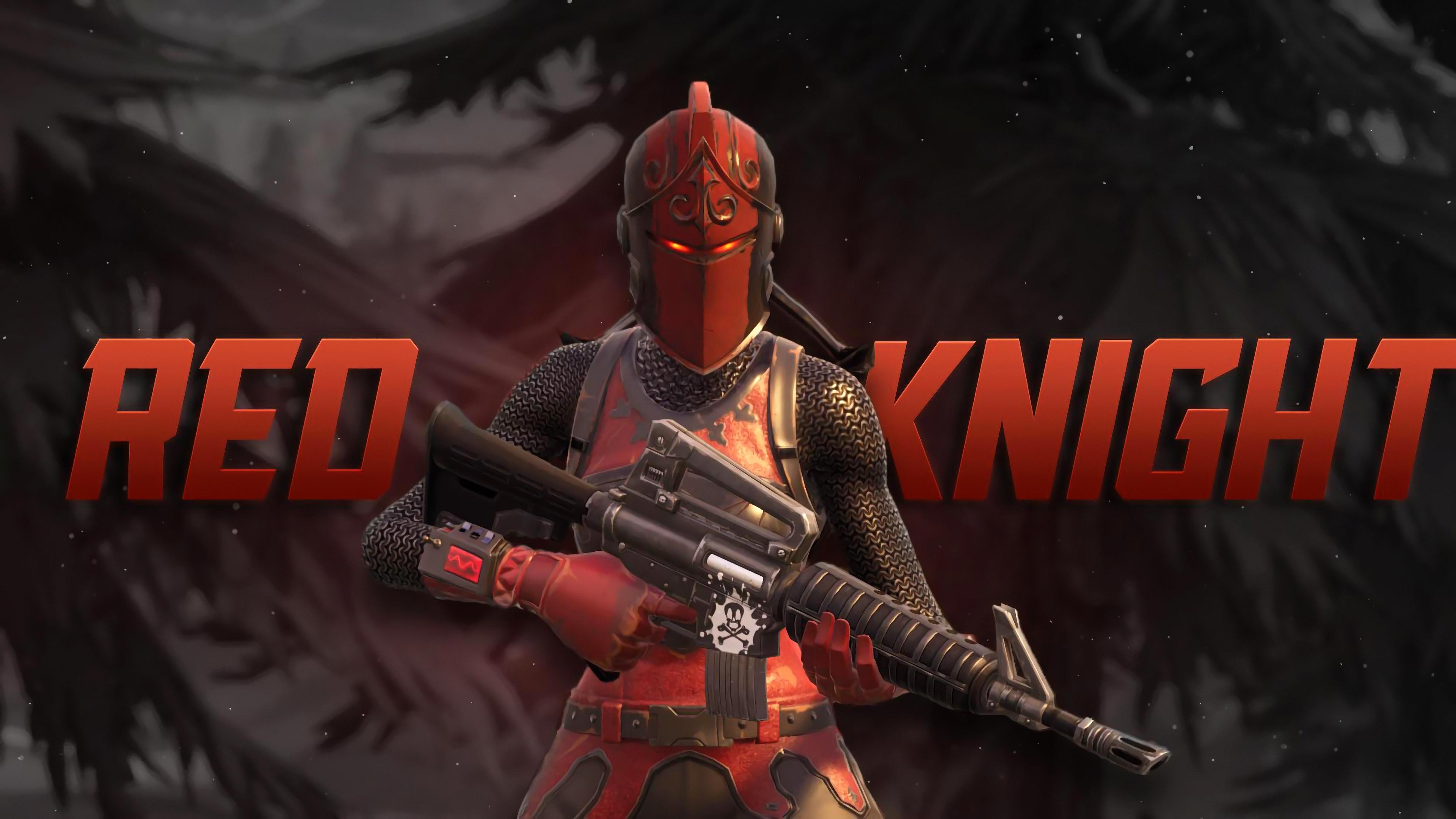Red Knight 4K 8K HD Fortnite Battle Royale Wallpaper 3840x2160