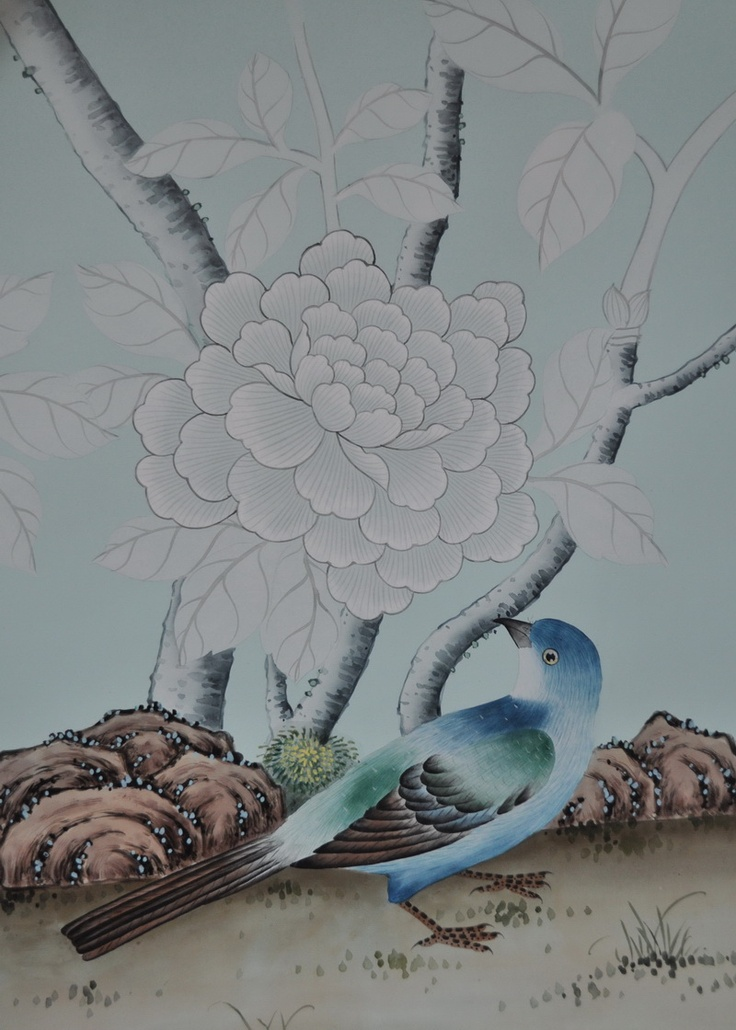 chinoiserie hand painted wallpaper hand painted wallpaper design 736x1030