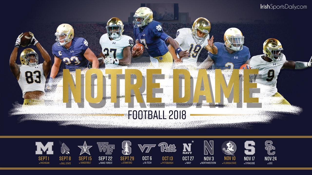 2018 Notre Dame Football Schedule Desktop Background Irish 1280x720