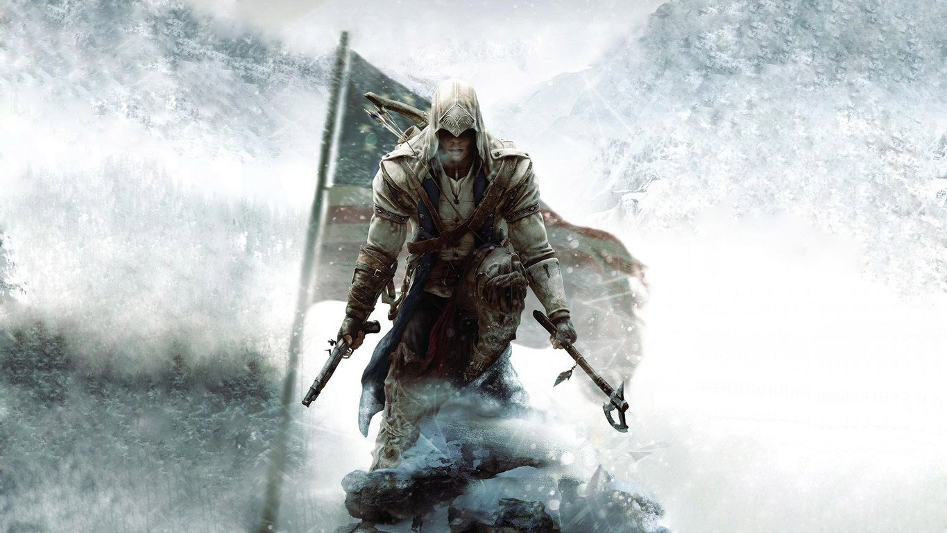 Download Connor Kenway   Assassins Creed III wallpaper 1365x768