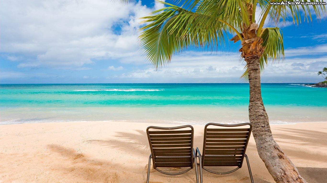 Beach Computer Wallpaper Background Download HD Wallpapers 1366x768