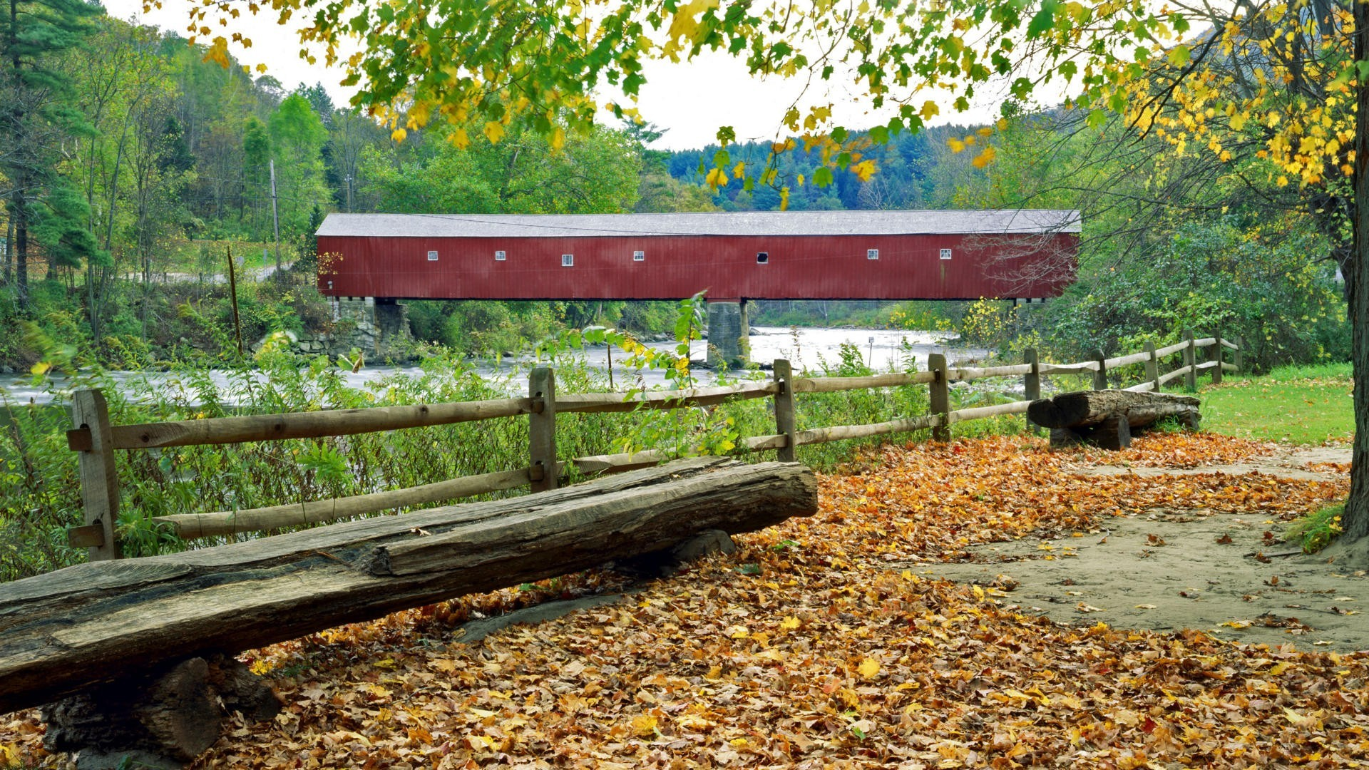 West Cornwall Covered Bridge Connecticut wallpaper 403396