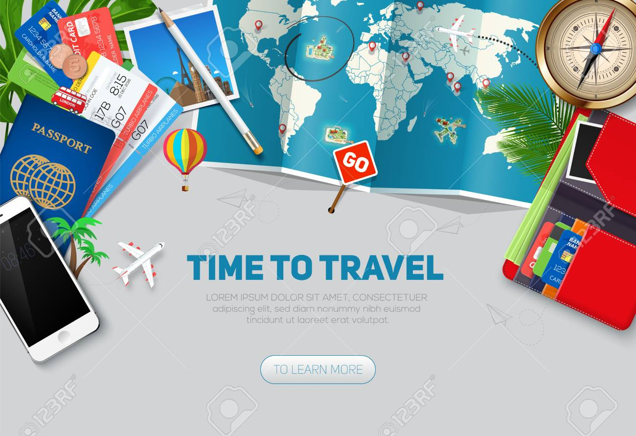 Travel And Tourism Background Travel Concept Ready For Summer 1300x891